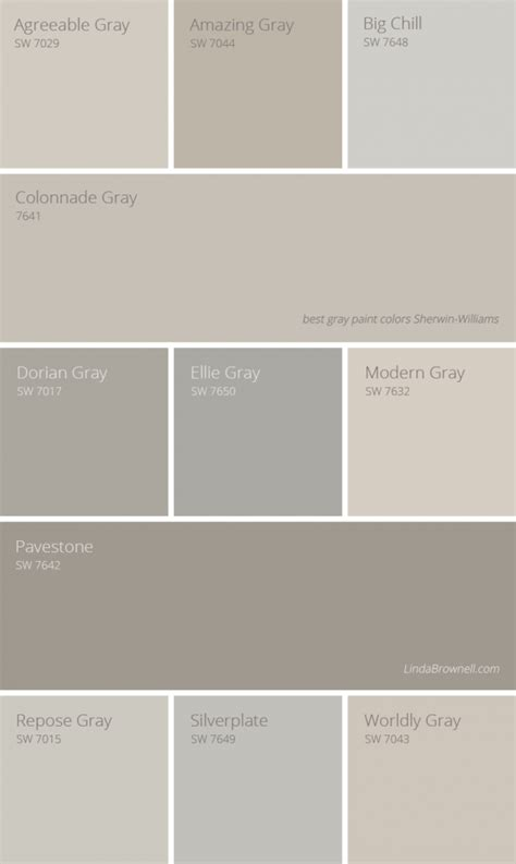 colors that work with gray 11 most amazing best gray paint colors sherwin williams to update your interior lindabrownell