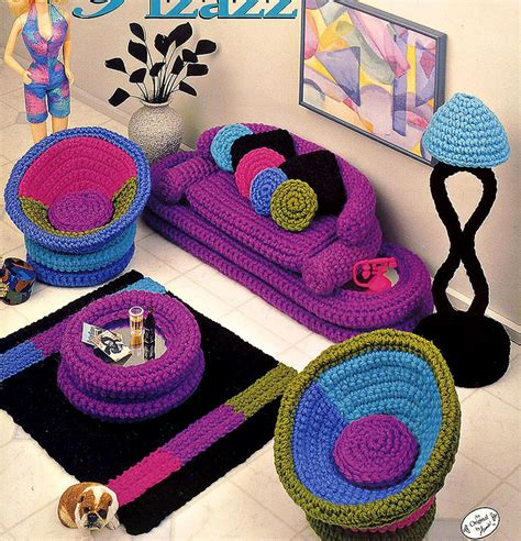crochet for home decor fashion doll home decor crochet parlor pizazz livingroom