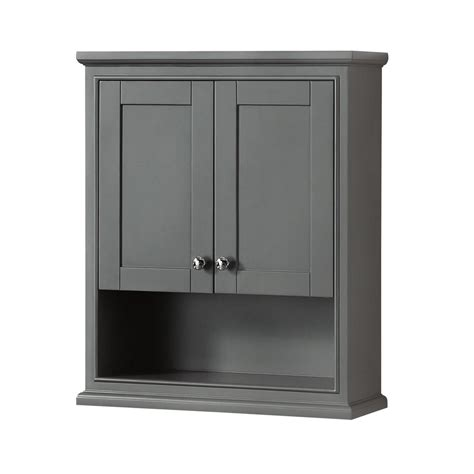 Wyndham Collection Deborah 25 In W X 30 In H X 9 In D Bathroom Storage Wall Cabinet