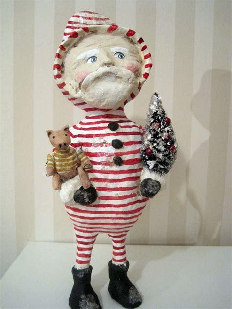 Lop Angpao Natal Santa Claus 2028 folk santa claus doll papier mache folk ooak made doll kreative ideer