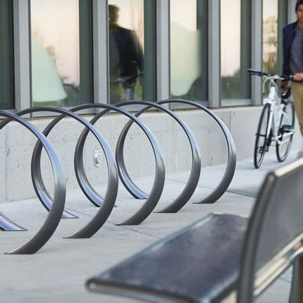 landscape forms bike racks 35 collection loop bike rack