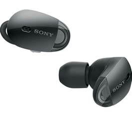 buy sony wfx wireless bluetooth noise cancelling headphones black  delivery currys
