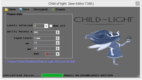 Child Of Light How To Save by Child Of Light Save Editor New Xbox 360 Mod Tool Xpg