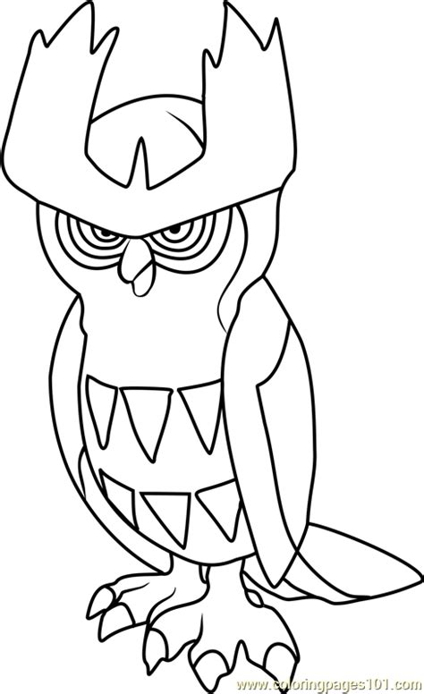 noctowl pokemon coloring pages noctowl pokemon coloring page free pok 233 mon coloring