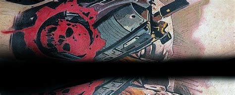 gears of war tattoo designs 30 tag tattoos for masculine design ideas