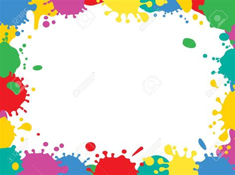 color frame paint clipart border pencil and in color paint clipart