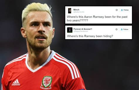 aaron ramsey bleaches hair for wales euro 2016 caign arsenal news fans wonder where aaron ramsey has been