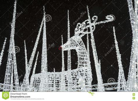 enchant christmas light maze reindeer at enchant christmas light maze and market stock