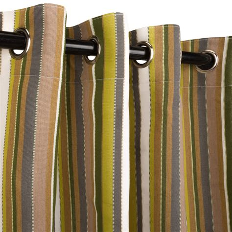 sunbrella outdoor drapes carousel limelight grommeted sunbrella outdoor curtains