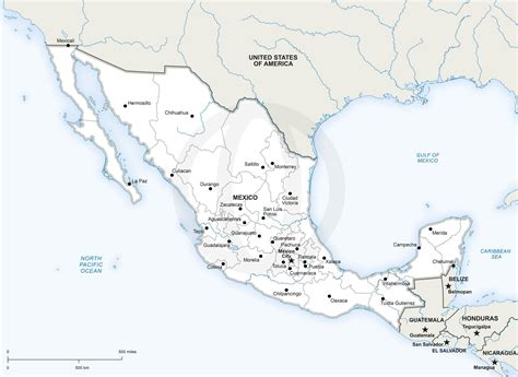 free printable map of mexico vector map of mexico political