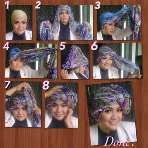 tutorial hijab turban sehari hari hijab turban simpel untuk sehari hari dream co id