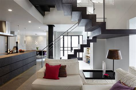 u home interior u shaped stair design for modern basement decorating ideas