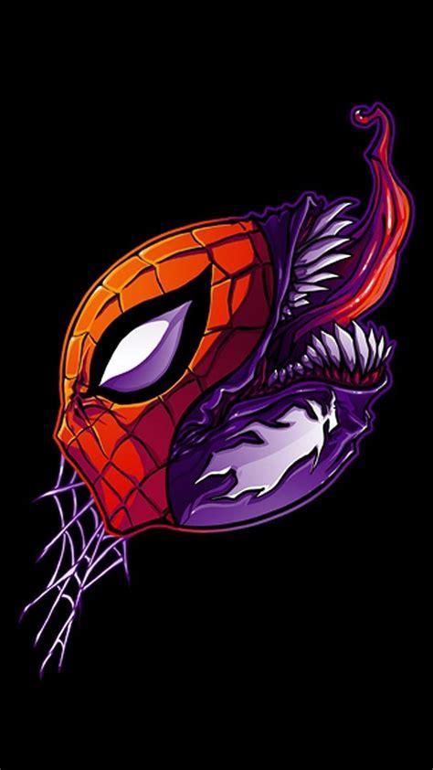 marvel comics spider man venom black background fan art