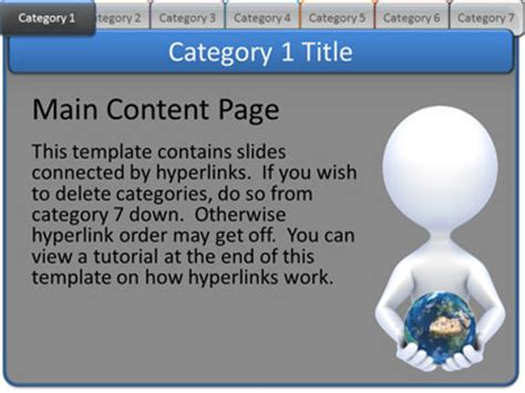 category page template interactive tabs category pages a powerpoint template