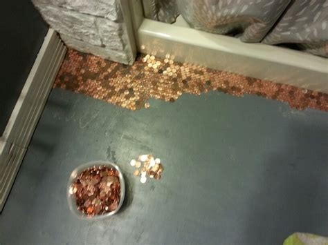 diy bathroom floor 17 best images about penny floors on pinterest coins copper and front porches