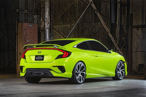 future honda civic honda civic concept is new york s colored spot previews