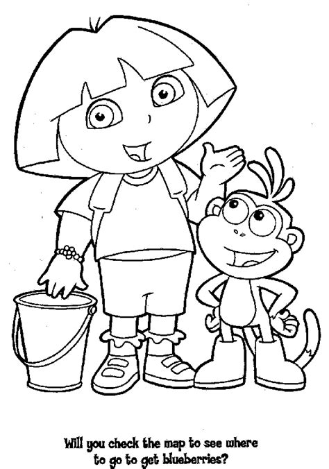 free printable coloring pages quot dora the explorer