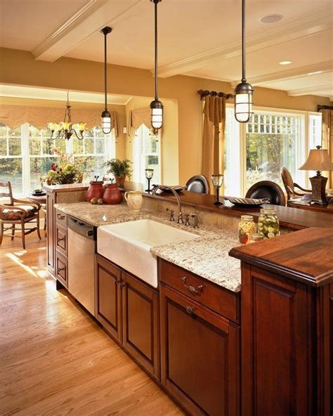 substantial wood kitchen island with apron sink single 25 impressive kitchen island with sink design ideas