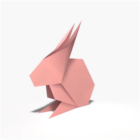 Model Origami - 3d model origami rabbit