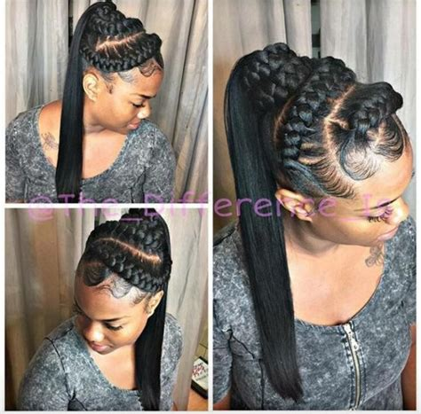 african braids in a ponytail with the saga least with that then would you want to spend this much time on these chunky