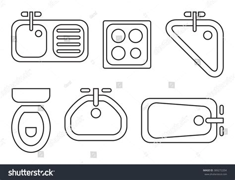 Free Architectural House Plans standard bathroom kitchen symbols used architecture stock
