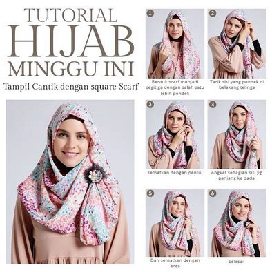 Jilbab Segi Empat 2 Lapis kreasi jilbab modern segi empat gaya terbaru 2016