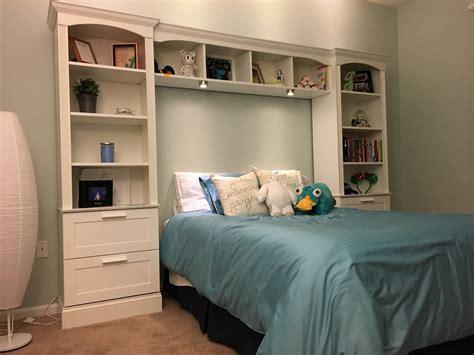 bed bridge bookcase ana white