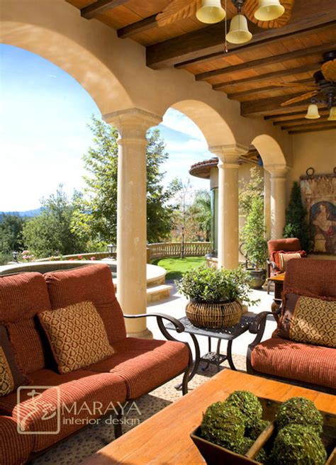 Tuscan Patio Decorating Ideas italian tuscan loggia mediterranean patio santa barbara by maraya interior design