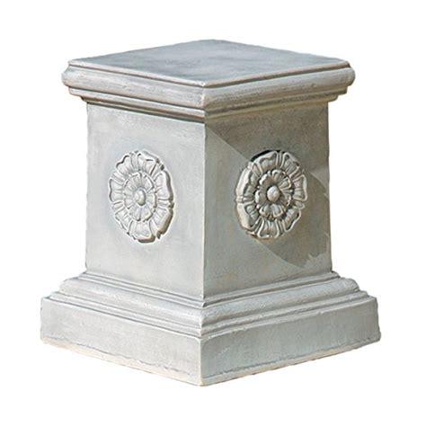 toscano home decor design toscano english rosette garden sculptural plinth