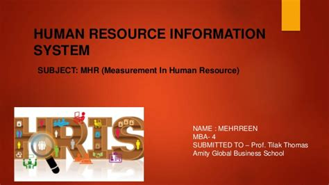 Information On Mba In Human Resources by An Overview On The Topic Human Resource Information