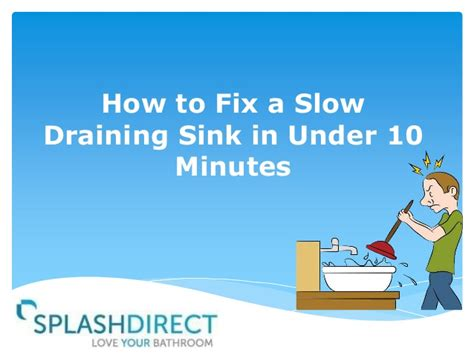 how to fix a draining sink how to fix a draining sink in 10 minutes