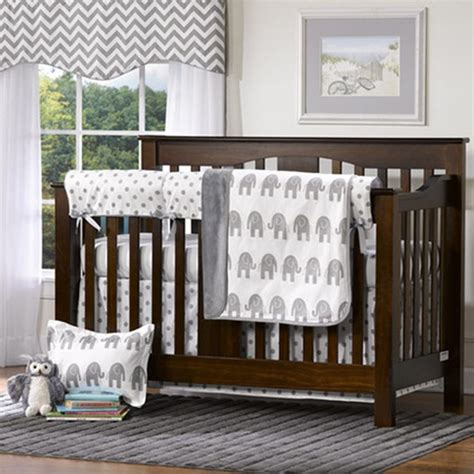 Baby Nursery Crib Sets Gray Elephants Crib Bedding Set Elephant Nursery Grey Elephant Bed Sets And Crib