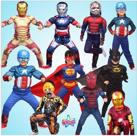 superhero kids muscle captain america costume avengers