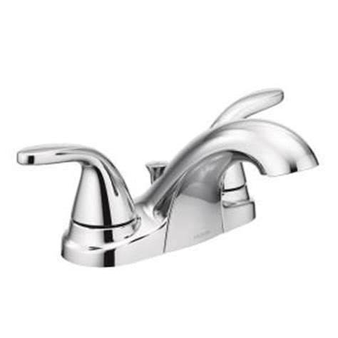 moen adler 4 in centerset 2 handle bathroom faucet in