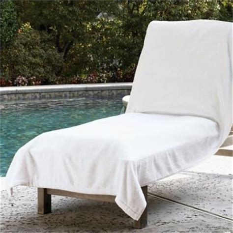 lounge chair cover towel sferra santino cotton terry towel lounge chair cover
