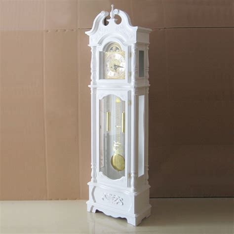 grandfather clock pendulum stops swinging wood hand carved copper mechanical movement chime