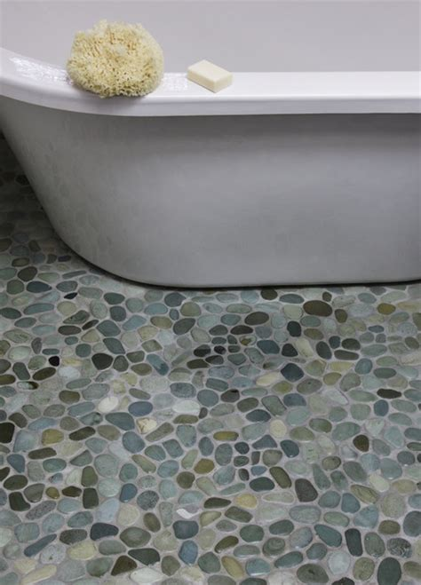 pebble bathroom floor island stone perfect pebble floor modern bathroom