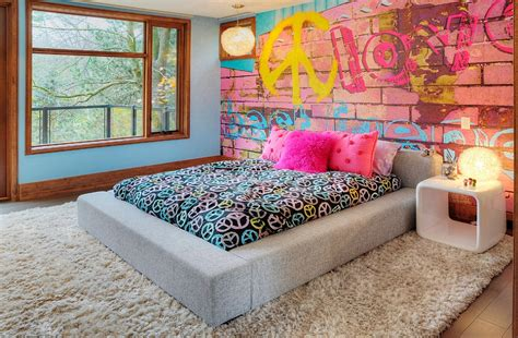 graffiti bedroom wall graffiti interiors home art murals and decor ideas