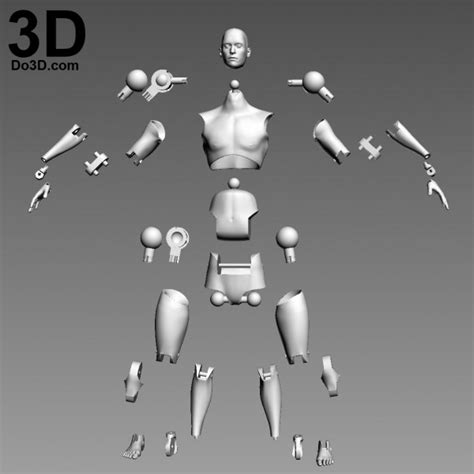 figure joints 3d printable articulated figure