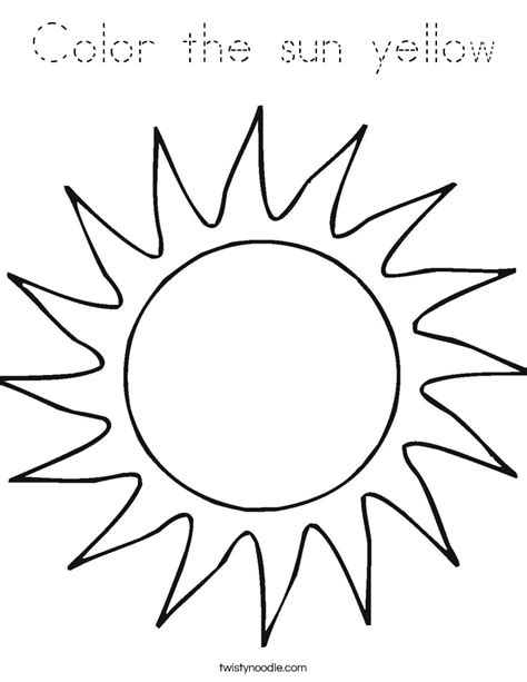 sun block coloring page color the sun yellow coloring page tracing twisty noodle