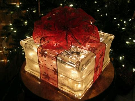lighted glass block holiday christmas pinterest