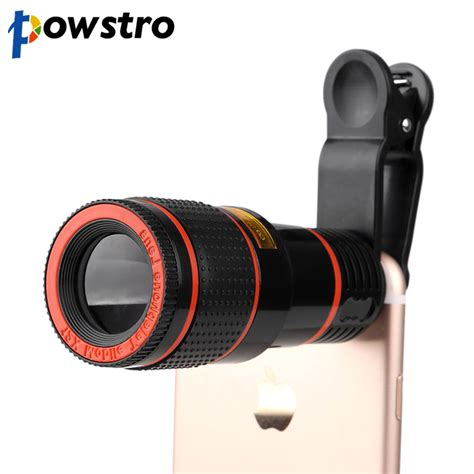 lens for galaxy s4 powstro 12x zoom mobile phone clip on retractable