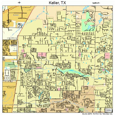 map of keller texas and surrounding areas keller texas map 4838632