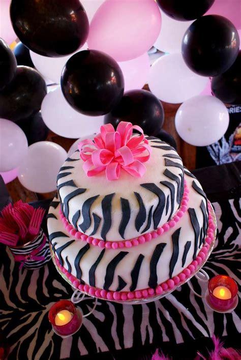 zebra themed birthday party ideas pink zebra theme birthday party ideas photo 11 of 14