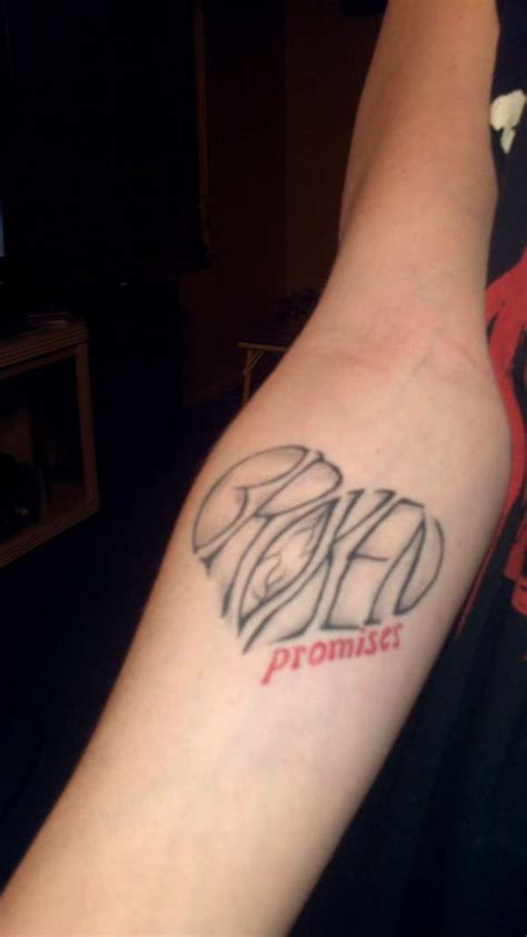 broken promises tattoo