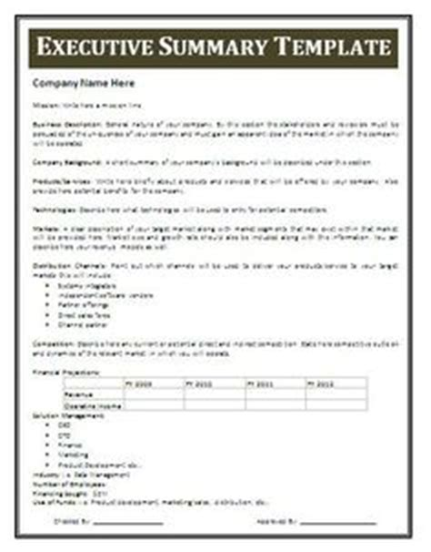 Microsoft Word Executive Summary Template 13 Executive Summary Templates Excel Pdf Formats