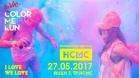 color me la vie color me run 2017 ho chi minh city spacebib