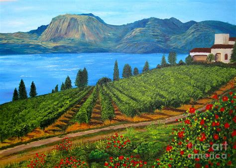 Me To You Duvet Cover Okanagan Vineyard Painting By Alicia Fowler