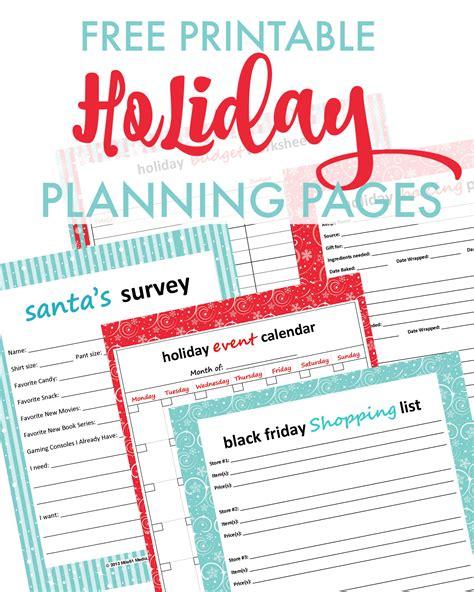 printable christmas planner pages free christmas printables 2013 holiday savings guide