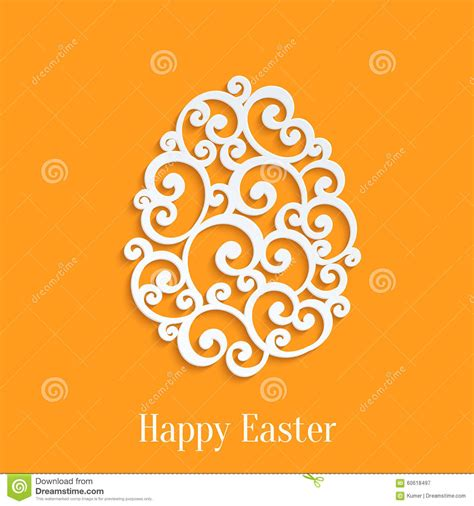 happy easter egg card template happy easter stock vector image 60618497